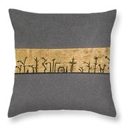Potawatomi Medicine Stick Throw Pillow