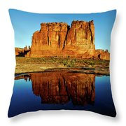 Pothole Reflections - Arches National Park Throw Pillow