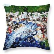 Potomac River At Great Falls  4 201687 Throw Pillow