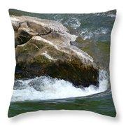 Potomac River Rapids Throw Pillow