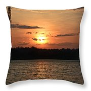 Potomac River Sunset In March Throw Pillow