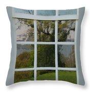 Potomac River Valley On Mount Vernon Throw Pillow