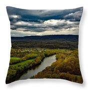 Potomac River Valley - West Virginia Throw Pillow