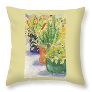 Potted Beauties  Throw Pillow