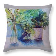 Potted Plant Study Throw Pillow