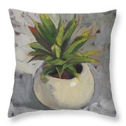Potted Succulent I Throw Pillow