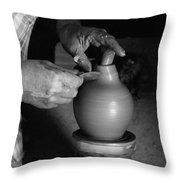 Potter At Work Throw Pillow