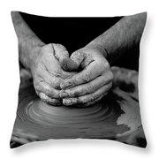 Potters Wheel Creation Throw Pillow