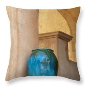 Pottery And Archways Throw Pillow by Sandra Bronstein