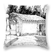 Potting Shed At Le Coin Retro In Le Thor France Throw Pillow