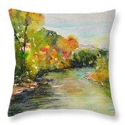 Poudre Riverbend Throw Pillow