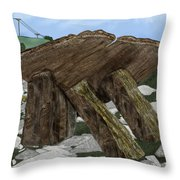 Poulnabrone Dolmen County Clare Ireland Throw Pillow