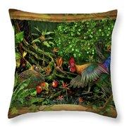 Poultrified Garden Of Eden Throw Pillow