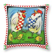 Poultry In Motion Poster Throw Pillow