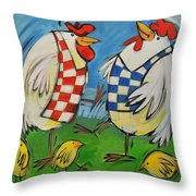 Poultry In Motion Throw Pillow