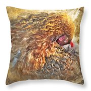 Poultry Passion Throw Pillow