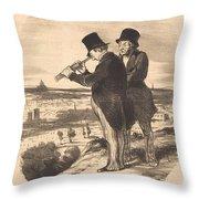 Pour Une Belle Vue, V'la Une Belle Vue!... Throw Pillow