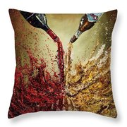 Pouring It Down Throw Pillow