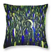 Pouring Rain And Light Throw Pillow