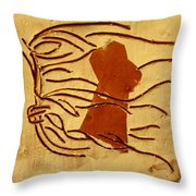 Pout - Tile Throw Pillow