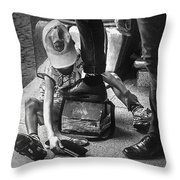 Poverty In The Streets Of Paraguay Throw Pillow