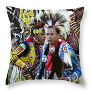 Pow Wow Back In Time 1 Throw Pillow