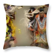 Pow Wow Beauty Of The Dance 1 Throw Pillow