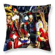 Pow Wow Beauty Of The Past 5 Throw Pillow