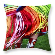 Pow Wow Beauty Of The Past 9 Throw Pillow