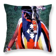 Pow-wow Colors Throw Pillow
