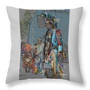 Pow Wow Competition Throw Pillow