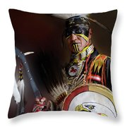 Pow Wow Portrait Of A Proud Man 2 Throw Pillow