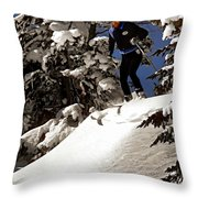 Powder Hound Throw Pillow