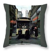 Powell And Mason Street Turnaround, April 6 1961 Throw Pillow