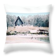 Powell Gardens Chapel Throw Pillow