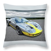 Power And Performance - Ford Gt40 Throw Pillow