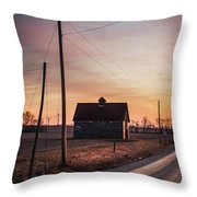 Power Farm Throw Pillow