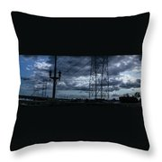 Los Angeles Power Grid At Dusk Throw Pillow