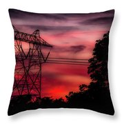 Power In Red Throw Pillow