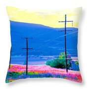 Power Lines 3 Throw Pillow