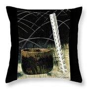 Power Lines Throw Pillow by Sarah Loft