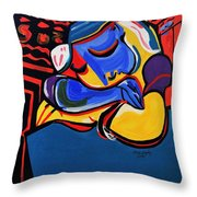 Power Nap  Picasso By Nora Throw Pillow