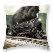 Power On The Curve Throw Pillow