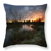 Power Plant Sunrise 1.0 Throw Pillow