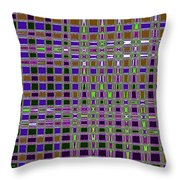 Power Tower And Agave Checkerboard Abstract Throw Pillow