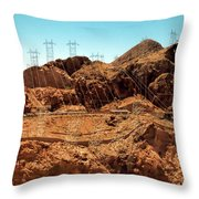 Power Transport From Hoover Dam Throw Pillow