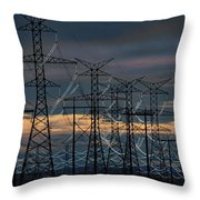 Power Web Throw Pillow