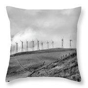 Power Wind Turbines  Bw Throw Pillow