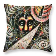 Powered Visions Of Mortal Throw Pillow