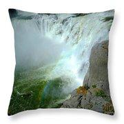 Powerful Large Waterfall Shoshone Falls Amazing Beauty Water Fal Throw Pillow